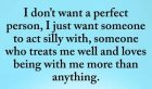 I Don't Want a Perfect Person