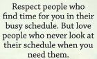 Respect People Who Find Time