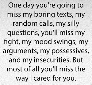 One Day You're Gonna Miss Me